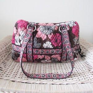 Vera Bradley Mocha Rouge Shoulder Bag